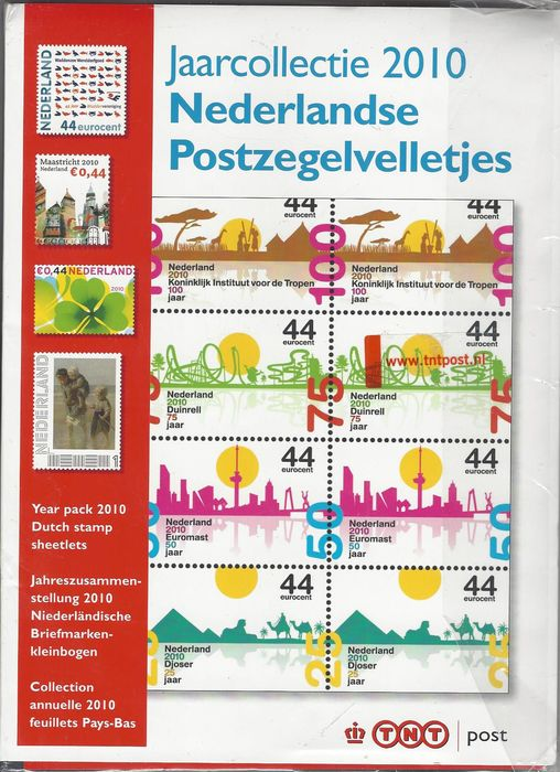 Netherlands 2010 - Year collection of stamp sheetlets