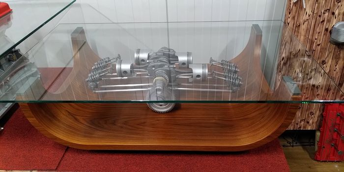 VW beetle aircooled clear motion engine table - Volkswagen