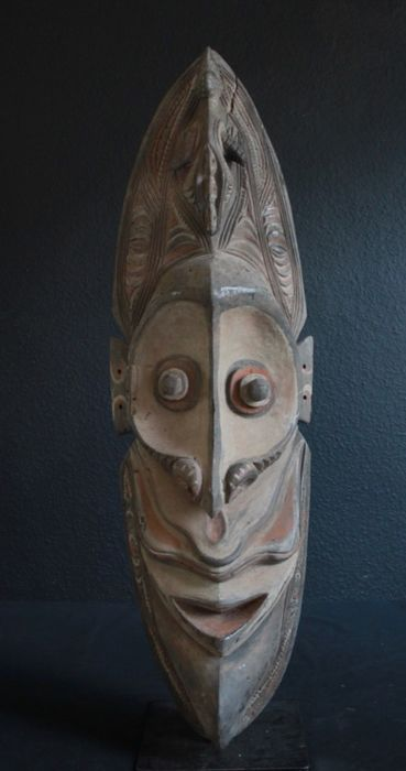 Mask (1) - Wood - Sepik, Papua New Guinea