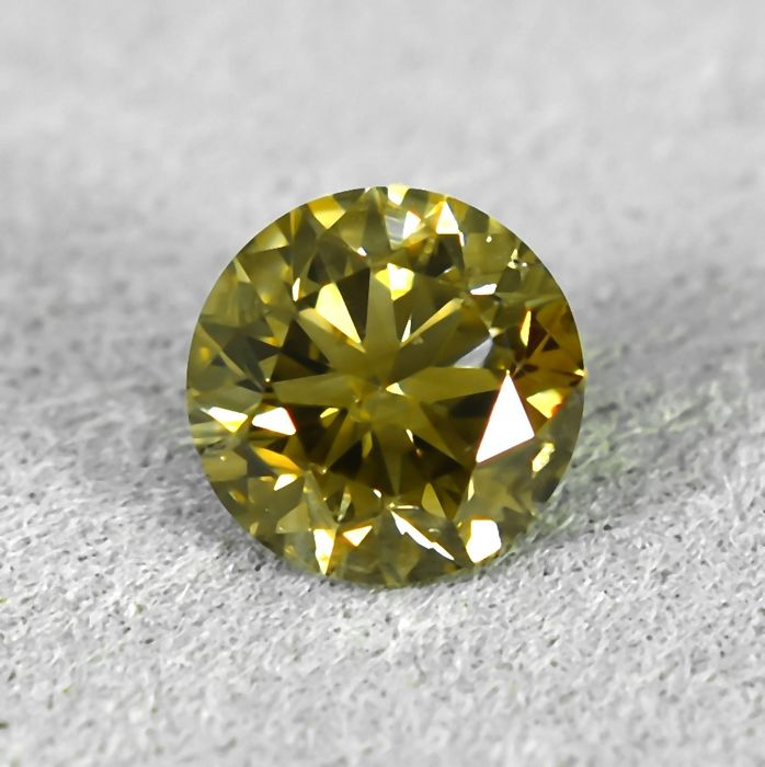 Diamond - 0.60 ct - Brilliant - Natural Fancy Brownish Yellow - Si1 - NO RESERVE PRICE - VG/VG/VG