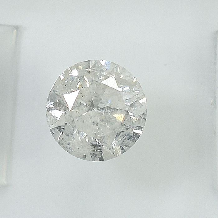 Diamond - 0.93 ct - Brilliant - I - I2 - NO RESERVE PRICE - VG/VG/G