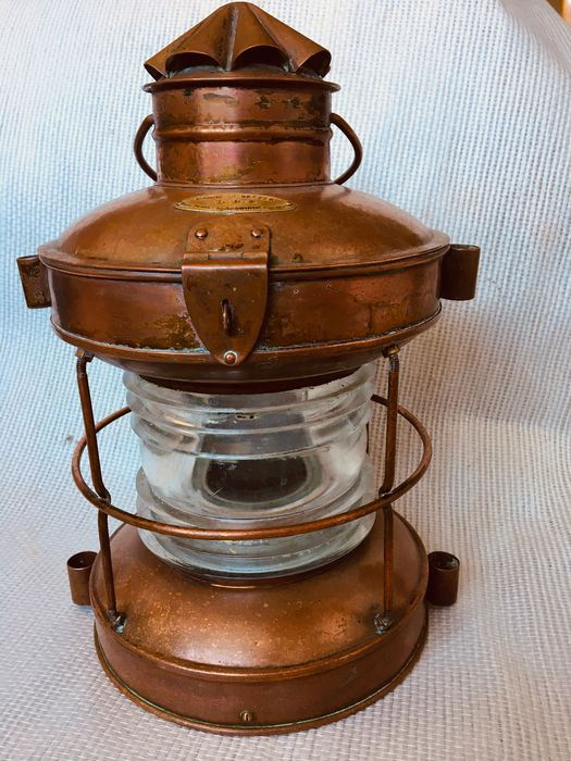 All round 360° navigation lamp - Copper - First half 20th century