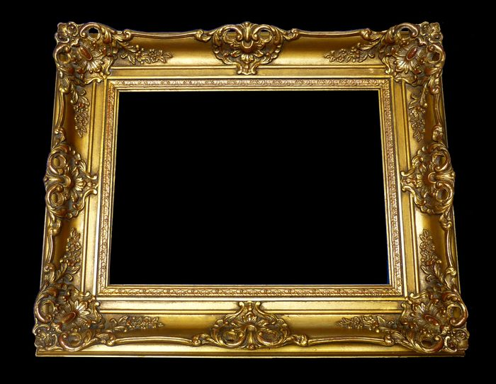 Painting, Frame picture frame - Louis XV Style