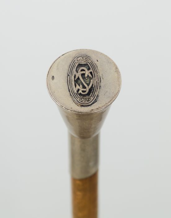 Walking stick - 925 Silver, Silver Plated, Beech - Mid 20th century