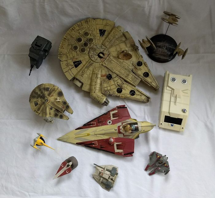 Star Wars - Lot of 10 - See photos and description - Hasbro, and others - Raumschiff