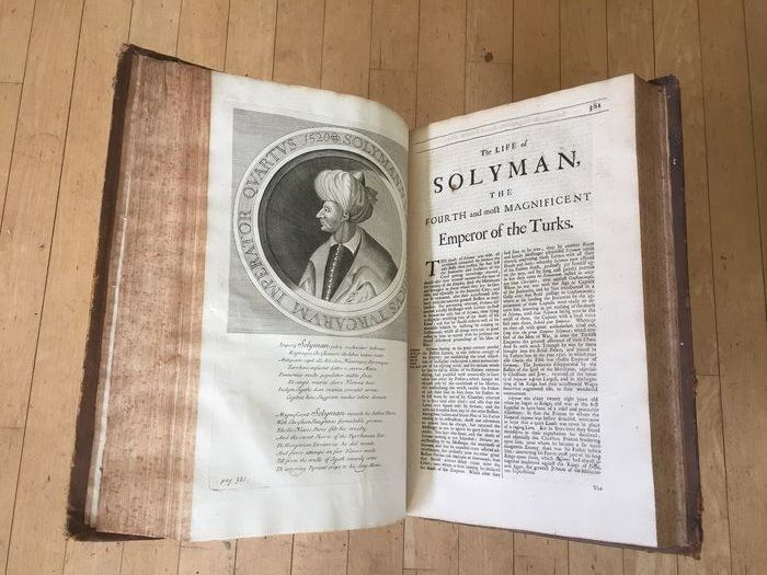Large paper copy; Knolles, Rycaut - The Turkish history. Ottoman history - 1687/1700