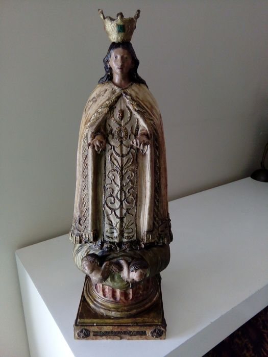 Sculpture of Virgin with Angelics - 47 cm (1) - Terracotta - Late 18th century