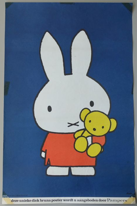 Dick Bruna - Miffy for Pampers - Jaren 1970