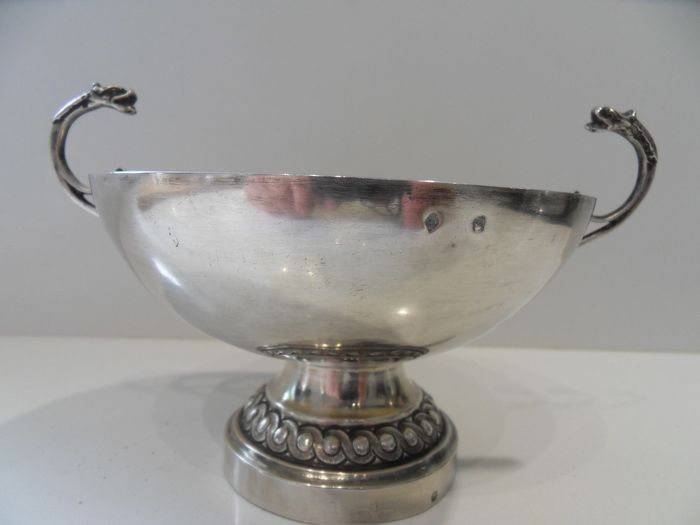 Bowl, Old wedding cup (1) - .950 silver - Paul Roussaux - France - Late 19th century