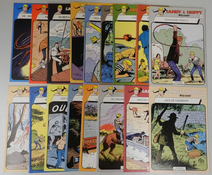 Sandy en Hoppy 1 t/m 17 - Complete serie - Softcover - First edition - (1980/1981)
