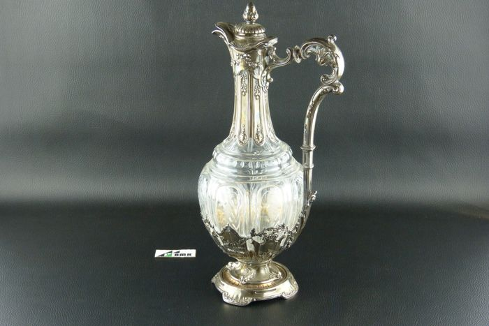Image 3 of Decanter - .950 silver - Baccarat - France - Late 19th century