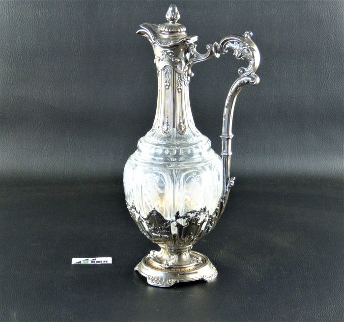 Preview of the first image of Decanter - .950 silver - Baccarat - France - Late 19th century.