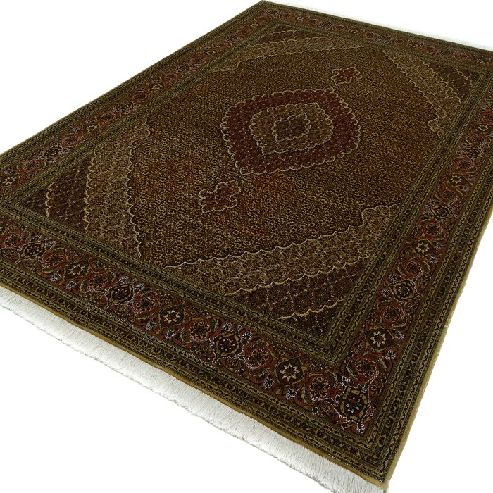 Tabriz Mahi - Rug with silk - 292 cm - 198 cm