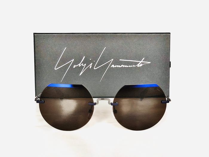 Yohji Yamamoto - YY 7015, Titanium, Rimless Cat.3, Style 971 Dark / Gun *Brand new & Unused, unisex Designer Sunglasses