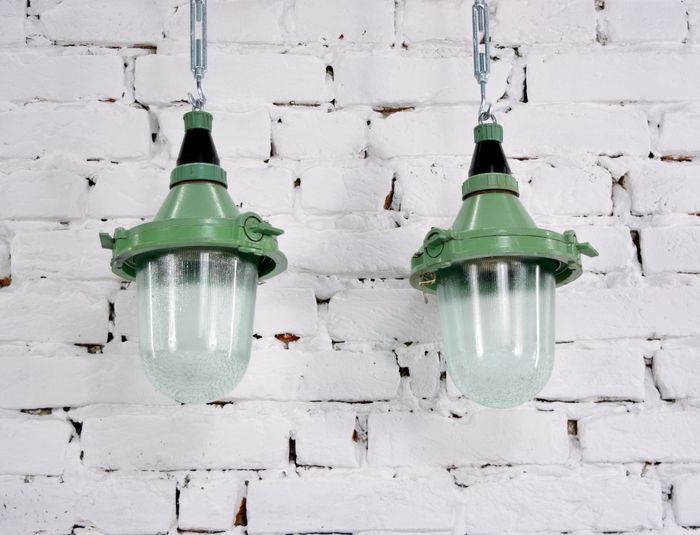 Hanging lamp, Soviet Union Industrial lamps  (2)