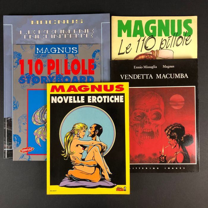 Magnus - 5x volumi per adulti - Softcover - First edition - (1986/2000)