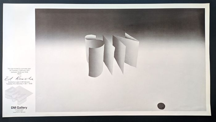 DM Gallery  - Es Ruscha - 'SIN' DM Gallery 1972 exhibition poster - 1972