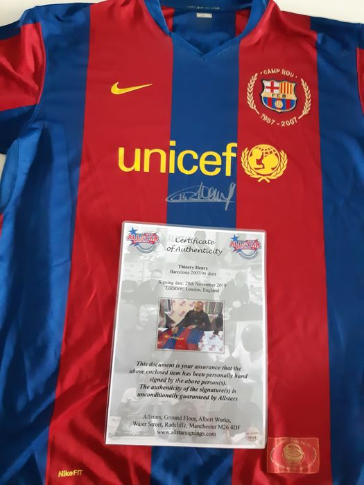 FC Barcelona - Spanish Football League - Thierry Henry - 2007 - Jersey