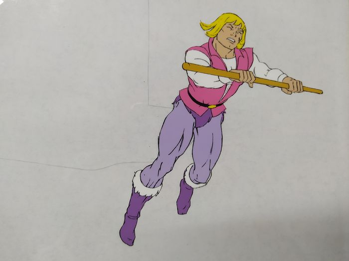 He-Man and the Masters of the Universe - Original animation cel of He-Man (1983) - Uniek