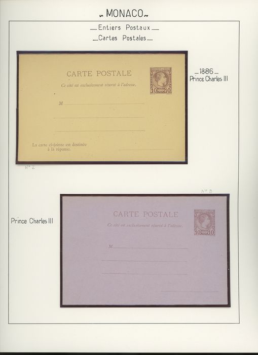 France 1886/1997 - Monaco - Superb collection of postal stationery items, postcards, envelopes, aerograms... - Yvert