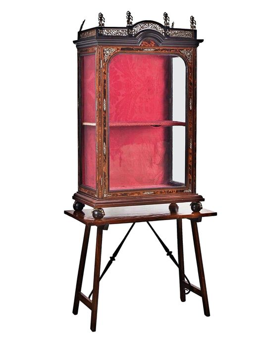 Display cabinet - Renaissance Style - Bronze, Wood - Mid 19th century
