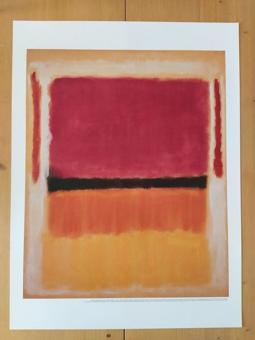 Rothko - Untitled (Violet, Black, Orange, Yellow on White and Red) - 1998