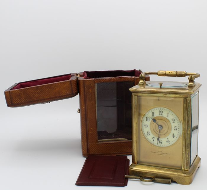 Couaillet watch with chime and repetition - Henry Pidduck & Son - Southport - Golden Brass and Glass - Late 19th century