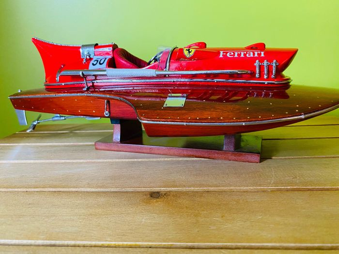Scale boat model, Ferrari Arno IX Hydroplane Model Making - Mahogany, Wood - Current