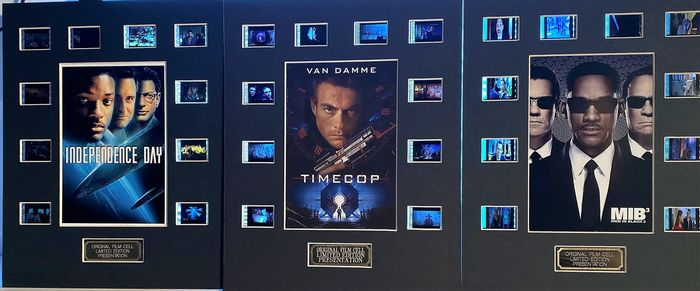 Lot of 3 - Independence Day / MIB3 / Timecop - Film Cell Display