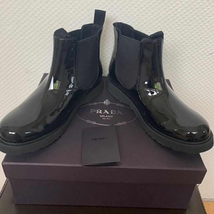 Prada - New - Leather - Ankle Boots - Size: 37 eu ( 4 uk )