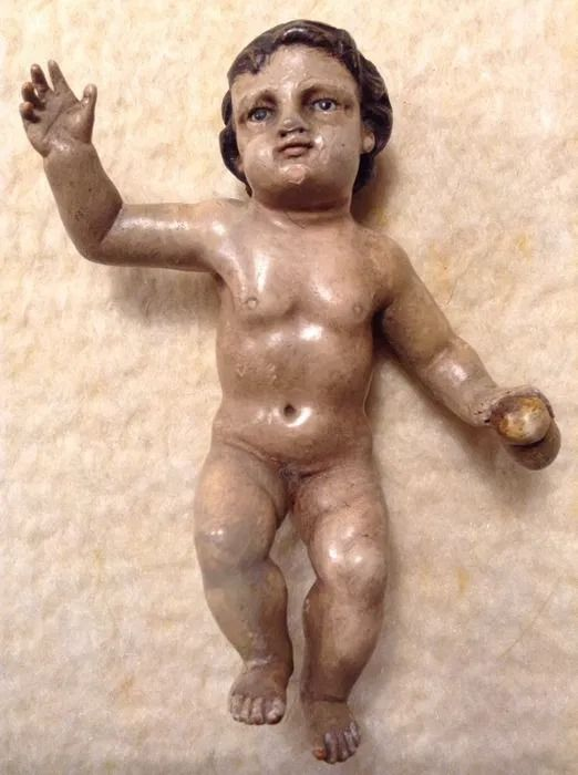Beautiful image of the baby Jesus of charity - Wood - Early 19th century