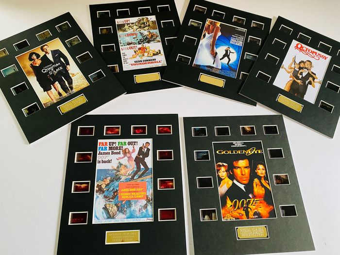 James Bond - Lot of 6 Film Cell Displays - One for every 007 actor