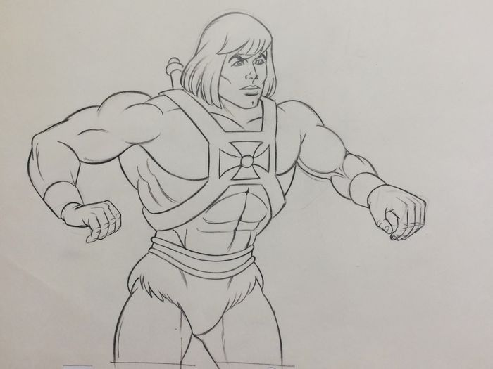 He-Man And The Masters Of The Universe - Original Art Animation ( 26 x 32 cm ) - Productiepotloden MU-103 170 H31