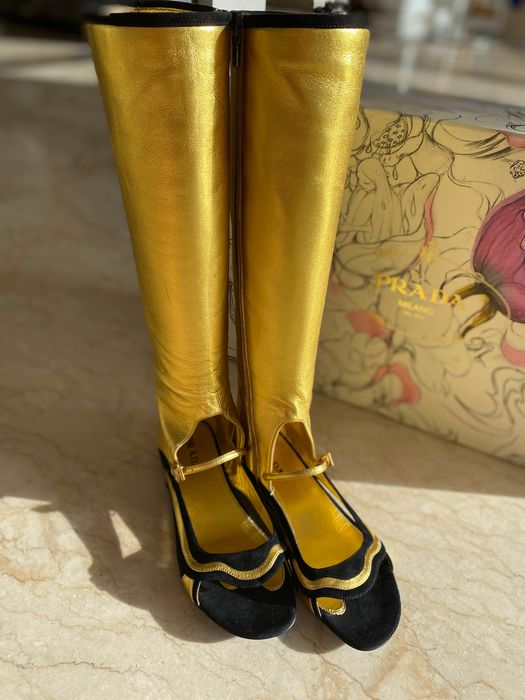 Prada open front boots - Size: IT 38.5