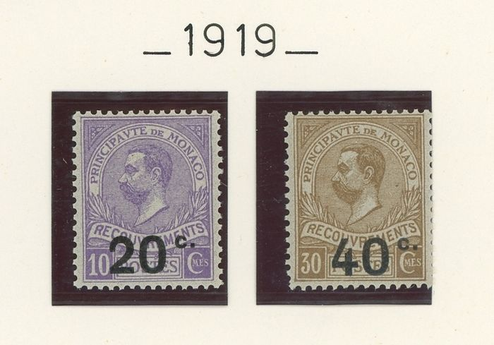 France 1919/1986 - Monaco - Very lovely almost complete collection of tax stamps - Yvert Entre n°11 et 86