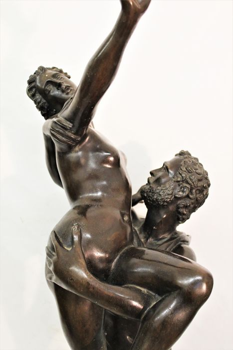 After Giambologna - Sculpture, Rape of the Sabine women - Bronze (patinated) - Second half 20th century