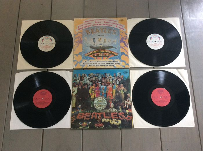Beatles - Two rare combi albums from Russia - Multiple titles - LP's - 1992/1992