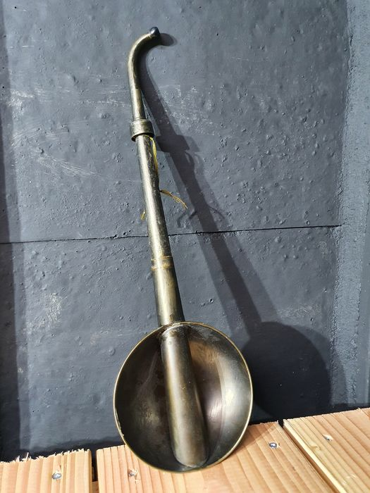 antique hearing aid - ladle - listening horn - Steel