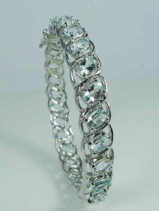 Aquamarine in Sterling silver - Polished - 26.5 g