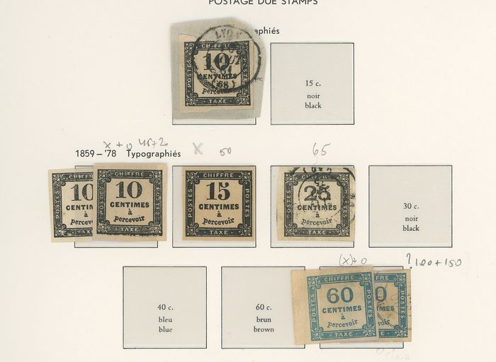 France 1859/1983 - A set of classic and semi-modern tax stamps. - Yvert Entre les n°1 et 112