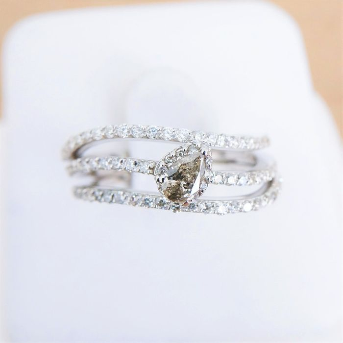 Swan Collection - 18 kt Weißgold - Ring 0.16 ct Diamant - Diamant