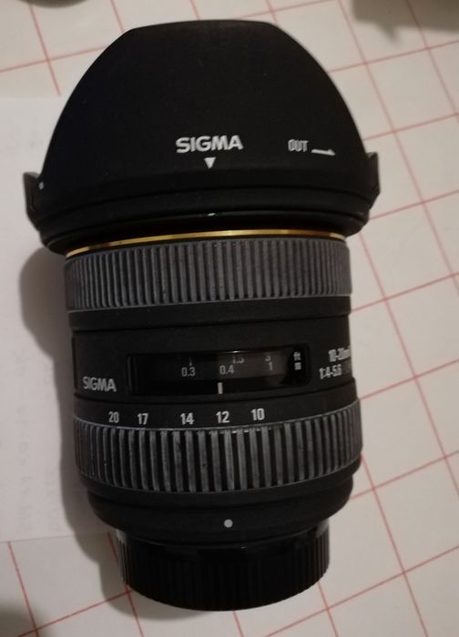 Sigma  10-20 f/4-5.6 For Nikon DX