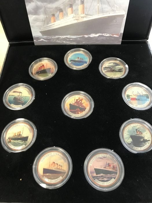 Great Britain - 1/2 Penny 2000-2016 'Historic Steamships Collection' in color (10 coins) in box