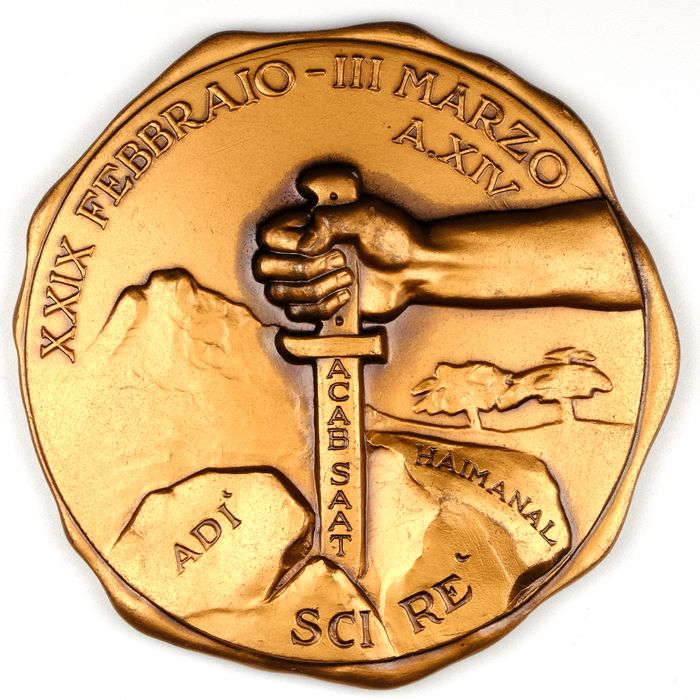 Italy - Black shirts - Fascism - Mussolini - Africa - Colonial - Aspromonte Legion - Division XXI Aprile - Medal - 1936
