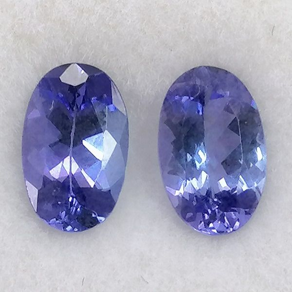 2 pcs No Reserve Price - Tanzanite - 1.80 ct