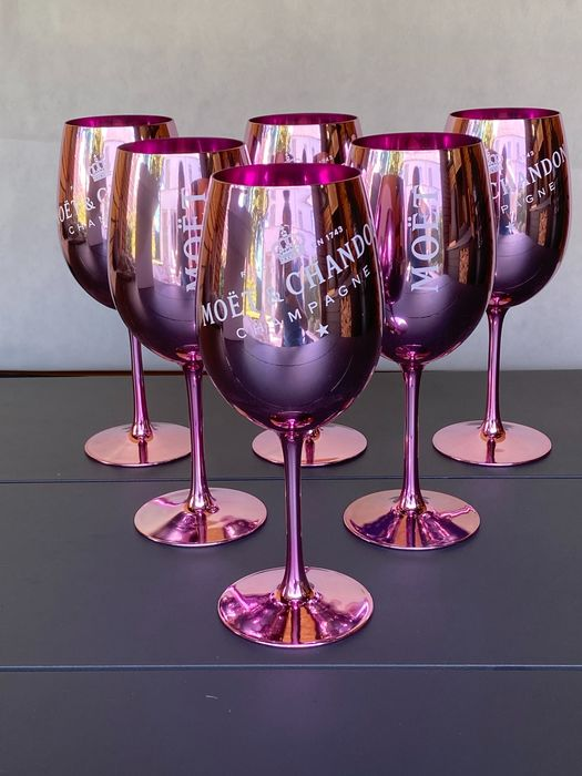 Moët & Chandon 6 pink glasses - Champán
