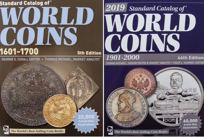 Accessoires - 2 Catalogues : World Coins 1601-1700 + World Coins 1901-2000 - almost 4000 pages