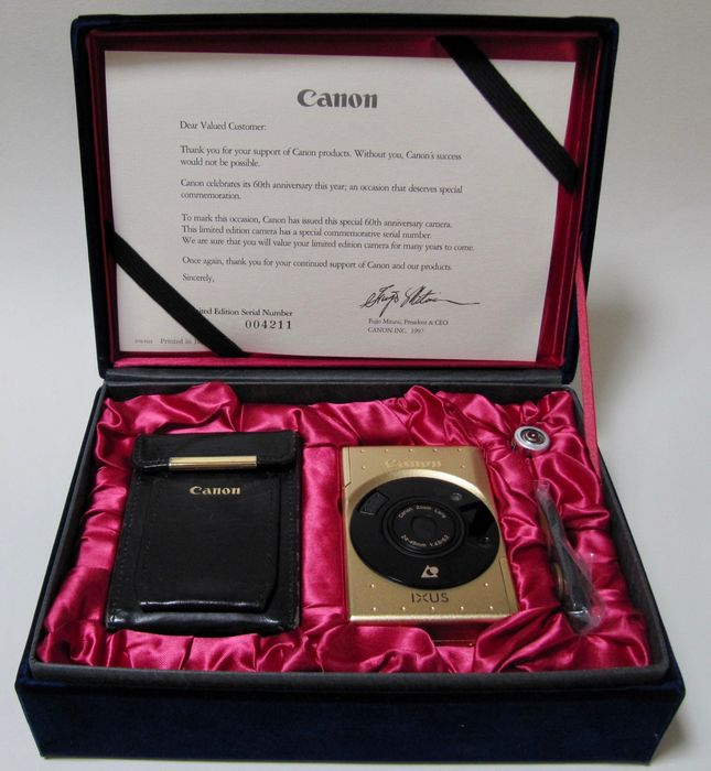 Canon IX240 18ct. gold plated limited edition
