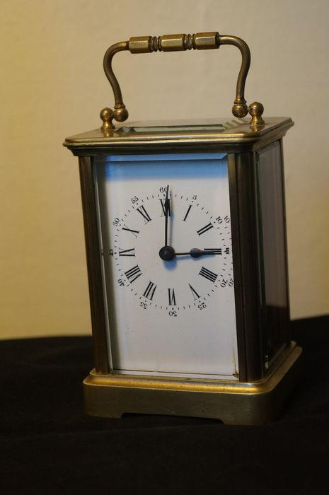 French brass carriage clock, 1900's - Brass - Late 19th century