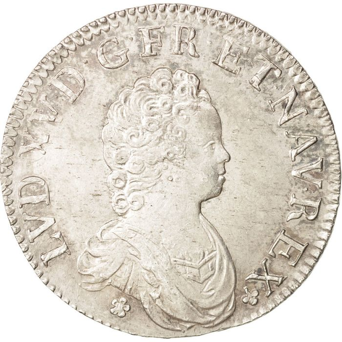 France - Louis XV - Ecu 1716-A (Paris) - Flan réformé - Silver